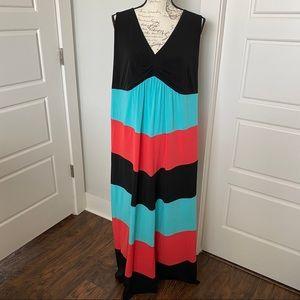 EnFocus colorblock maxi dress 18W